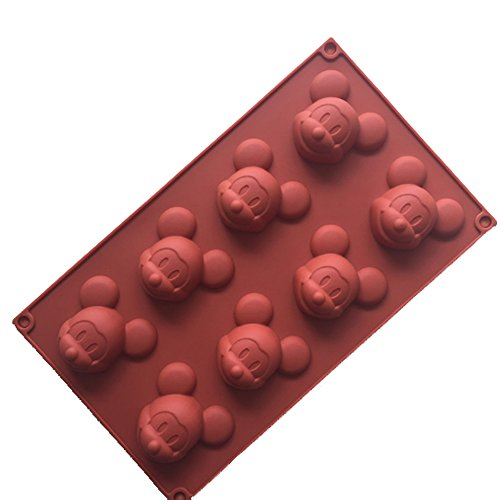 Mickey Mouse Cake Mold Silicone Mold for Candy Chocolate Bakeware Mould 8 Cavity -