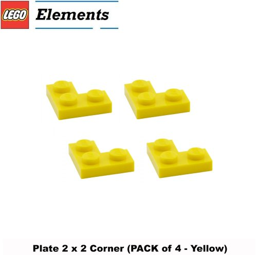 Lego-Parts-Plate-2-x-2-Corner-PACK-of-4-Yellow
