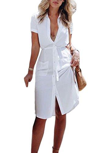 buttoned summer dresses - 6