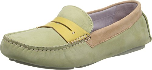 Johnston & Murphy Women's Maggie Penny Moccasin, Moss Multi, 9.5 N US (Johnston & Murphy Leather Moccasins)