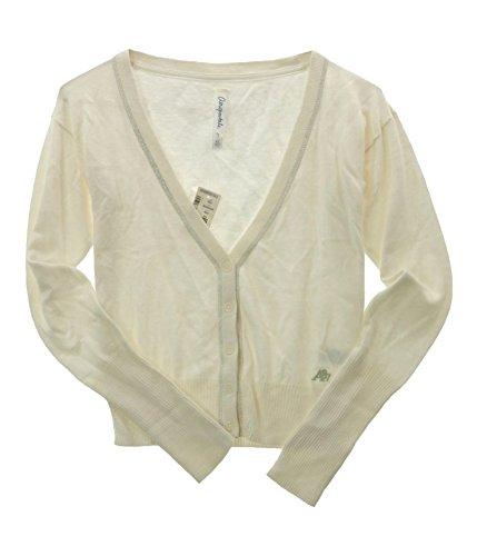 - Aeropostale Womens Aero A87 Cardigan Sweater, Beige, X-Large