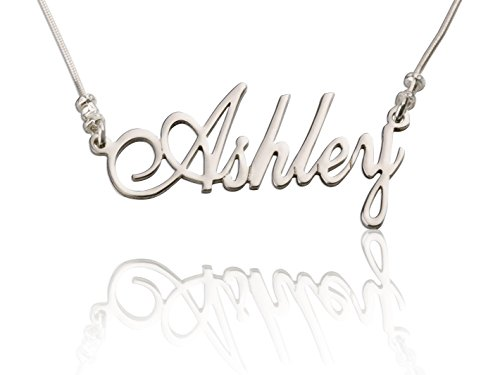 925 Sterling Silver Personalized Name Necklace - with Any Name!
