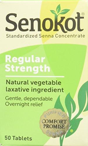 Senokot Natural Vegetable Laxative Ingredient, Tablets, 50 Count