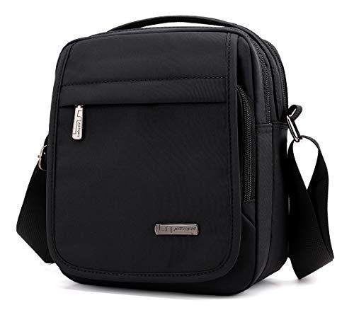 e038dc2913 Collsants Small Messenger Bag Nylon Crossbody Bag Multi Travel Shoulder Bag  For Men Women (Black