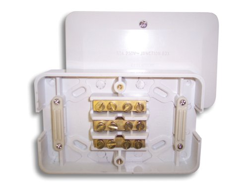 60 AMP 3 TERMINALS 142 x 90MM 3 X 2.5MM WHITE JUNCTION BOX LGK829 Selectric