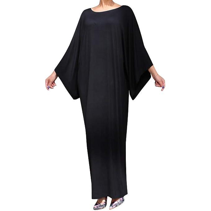 Muslim Women Bat Sleeve Loose Long Maxi Cocktail Dress Islamic Gown Abaya Robes