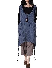 Mordenmiss Women's Sleeveless Vest Dress Pull-Up Hem Top