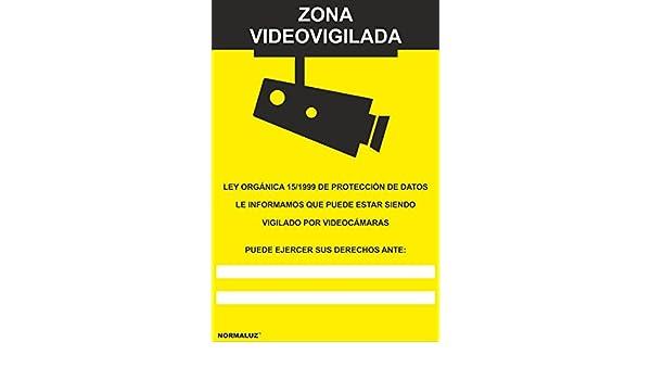 Normaluz RD30942 - Señal Zona Videovigilada Aluminio 0,5 mm 21x30 cm: Amazon.es: Industria, empresas y ciencia