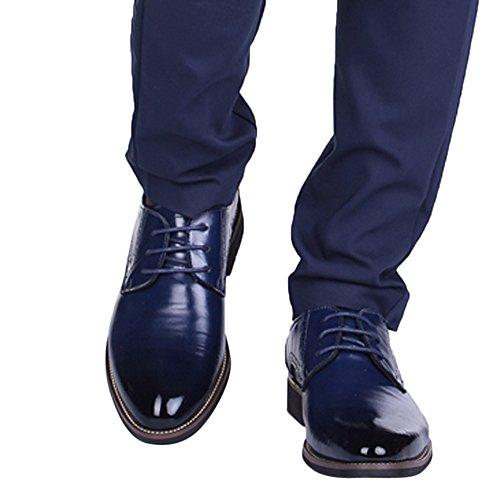 Business Basse Eleganti uomo da Pelle Stringate Scarpe da Marino in Blu Scarpe Scarpe da Scarpe Uomo appuntite per YunYoud Formal classiche casual Ricreazione uomo Pelle Oxford Pelle 8RUOOw0q