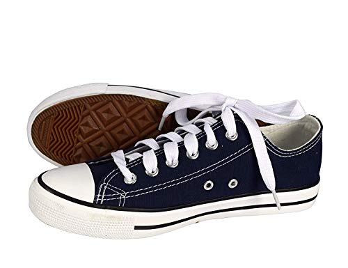 Peach Couture Classic Casual Canvas Low top Tennis Shoes Sneakers (11, Navy) from Peach Couture