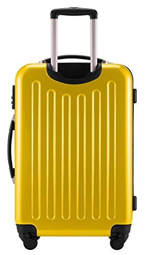 HAUPTSTADTKOFFER® 3er Hartschalen Kofferset · Handgepäck 45 Liter (55 x 35 x 20 cm) + Koffer 87 Liter (63 x 42 x 28 cm) + Koffer 130 Liter (75 x 52 x 32 cm) · Hochglanz · TSA Schloss · GELB