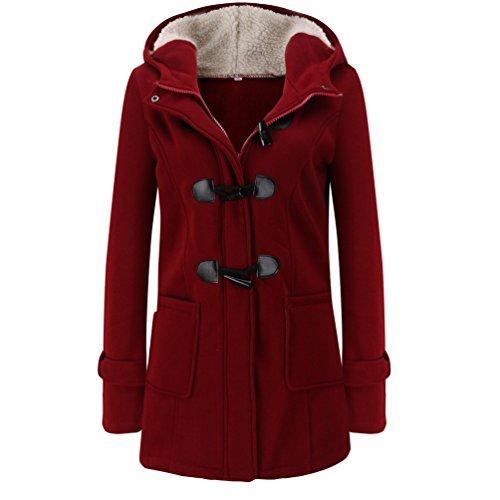 Vin Veste Veste Coat Femme Chaude d'hiver Trench Du Manteau Laine Casual D'hiver Mince Longue WanYang RX6qp