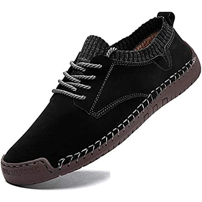 ROTJACM Men's Slip-ons Sock Walking Shoes Hand Stitching Mesh Cloth Shoes Casual Loafers Sneakers Moccasins Boat Shoes