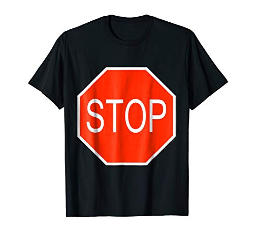 Mens Stop Sign Simple Easy Halloween Costume T-Shirt 3XL Black for $<!--$17.99-->