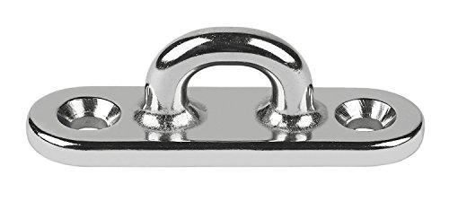 Schaefer Investment Cast Pad Eye on Oblong Base C/C 2 3/32-Inch (53mm) - Cast Pad Eye