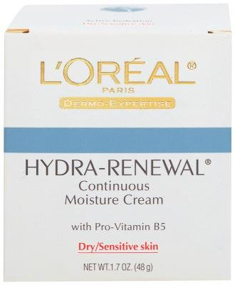 4 Pack - LOreal Dermo-Expertise Hydra-Renewal Continuous Moisture Cream Dry/Sensitive Skin 1.70 oz guinot 50ml/1.7oz creme protection reparatrice face cream