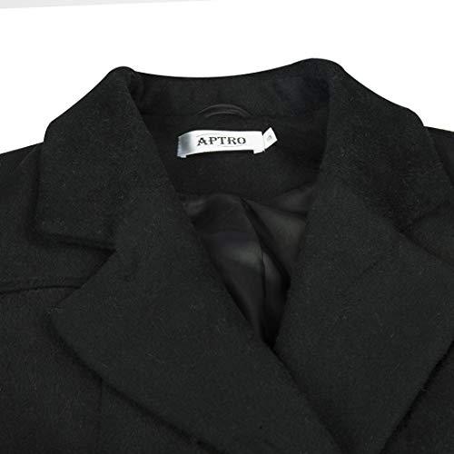 L Manteau schwarz L Aptro Manteau Femme Aptro Femme Aptro schwarz Manteau ITURO0qw