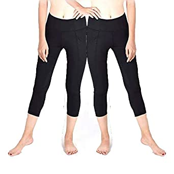 QUEEN FOREVER Yoga Pants for Women High Waist Squat Proof with 2