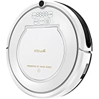 XShuai Robotic Vacuum Cleaner Automatic Floor Cleaner with Water Tank Mop and Self-Charge with Remote Control (White)