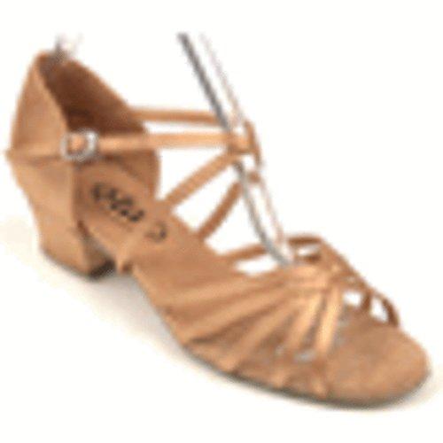 Star Dance Shop Dames Tan Sandale De Danse En Satin En Taille 10 Avec 1,5 Pouces De Talon