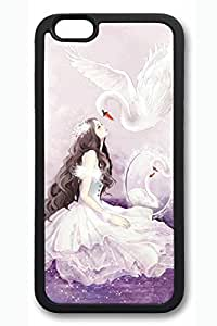Cartoon Girl With Swan Slim Soft For SamSung Galaxy S5 Mini Case Cover Case Hard shell Black Cases