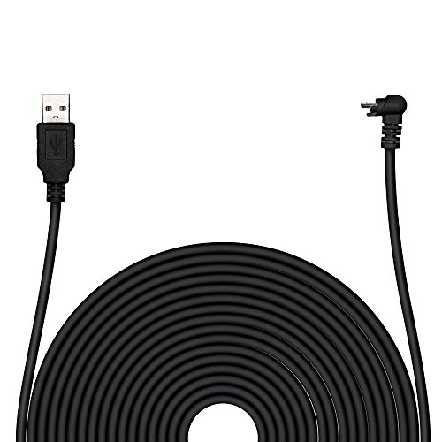 POPMAS Arlo Pro Weatherproof Charging Cable Indoor/Outdoor Quick Charge USB 2.0 Adapter,20 Ft Extra Long 45mm Thickness Cable for Arlo Pro, Arlo Pro 2 Home Security Camera Black