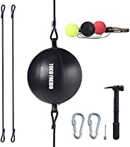 TOCO FREIDO Double End Punching Ball with Boxing Reflex Ball, Pump, Headband, Perfect for Gym MMA Boxing Sport