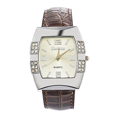 Loweryeah Rhine Stone Barrel-Shaped Strap Watch 24.5cm