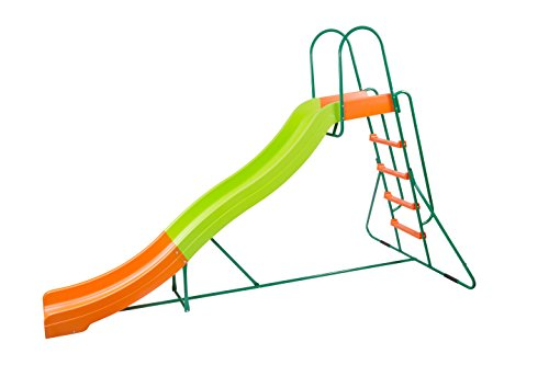 Indoor Kids Slide (PLATPORTS Home Playground Equipment: 10' Indoor/Outdoor Wavy Slide, Ages 3 to 10)