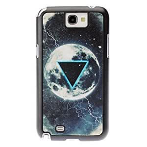 LZX Triangle and Planet Pattern Hard Case for Samsung Galaxy Note 2 N7100