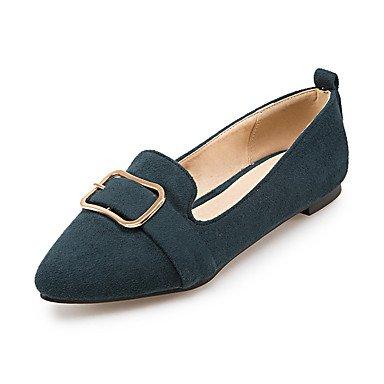 Cómodo y elegante soporte de zapatos de las mujeres pisos primavera verano otoño invierno otros forro polar parte y vestido de noche Casual soporte de talón hebilla negro amarillo verde luz gris gris