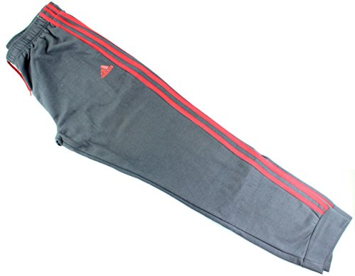 Outerstuff adidas Youth Fleece Collection (Youth Xlarge 18/20, Tapered Hem Sweatpants, Dark Gray/Scarlet) by Outerstuff