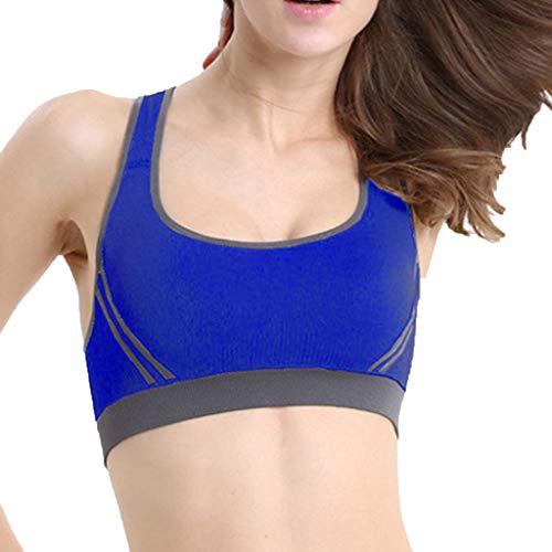 YEZIJIN Women's Sports Underwear Shock-Proof Yoga Gathering Worker's Bra Top 2019 New Best Women Wear Blue]()