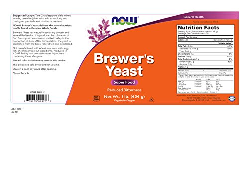 NOW Brewer's Yeast Debittered, 1-Pound