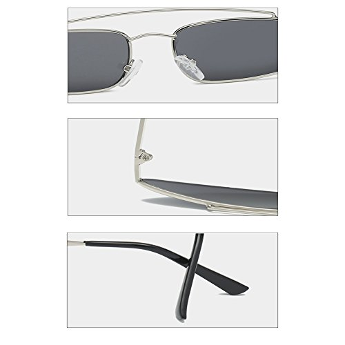 Gafas Mujeres Inlefen Mod Sunglasses Moda Hombres Silver Gray Cat Retro Vintage Style Eye qOgwExgR5