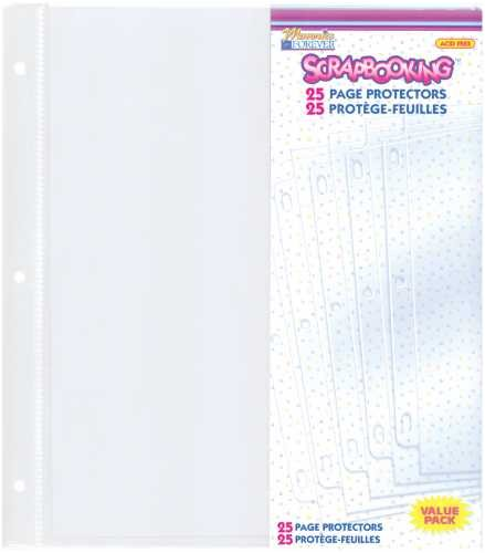 Westrim Value Pack 3-Hole 8-1/2 Inch by 11 Inch Page Protectors, 25/Package - Westrim Value Pack