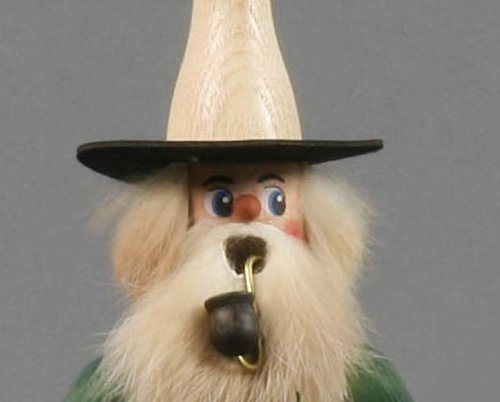 German Incense Smoker Candleholder Salesman - 20cm / 8 inch - Authentic German Erzgebirge Smokers - Dregeno Seiffen by Christian Ulbricht Nutcrackers and Smokers (Image #2)