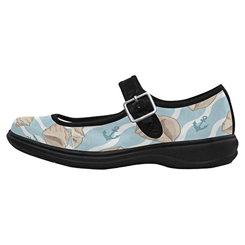 Interestprint Womens Comfort Mary Jane Flats Casual Scarpe Da Passeggio Multi 6