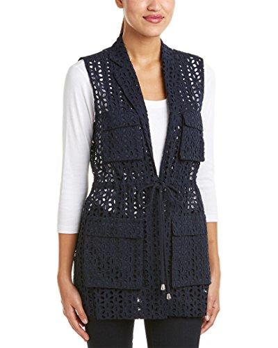 Cece By Cynthia Steffe Womens Vest, 10, - Eyelet Cynthia Steffe