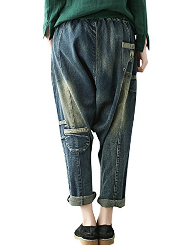 lastique Femmes 2 Vintage Jeans Style Taille Youlee ZqxFBAfqw6