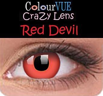 cce18fb035218e Lentilles de contact couleur annuelle - Colour Vision Crazy Lens Red Devil  - Vos yeux n
