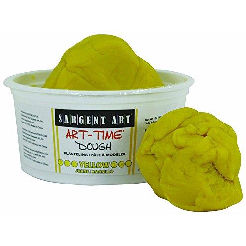 SARGENT ART INC. 1LB ART TIME DOUGH - YELLOW (Set of 12)