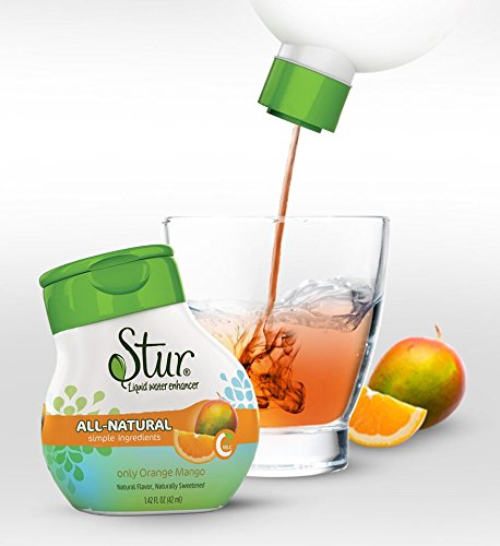 Stur - Natural Water Enhancer, Orange Mango (5 Bottles, Makes 100 Flavored Waters) - Sugar Free, Zero Calories, Kosher, Keto Friendly Liquid Drink Mix Sweetened  with Stevia