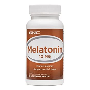 GNC Melatonin 10mg, 60 Tablets, Supports Restful Sleep