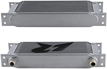 Universal 25 Row AN10 Engine Transmission 248mm Oil Cooler Mocal Style Black 25Row, Black