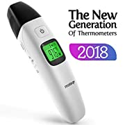 Baby Thermometer Infrared - [Upgrade 2018] 5-in-1 Ear - Forehead/Object / Liquids/Room- Fever Alarm - Instant Reading- Accurate - Baby/Gentile - Hygienic - Medically Proven CE/FDA