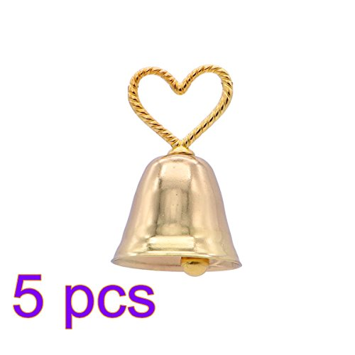 Gold Bell Place Card Holders - BESTOYARD 5pcs Wedding Table Place Card Holder Table Name Number Holder with Gold Bell Shape Wedding Party Decoration Baby Shower Supplies