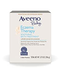 Aveeno Baby Eczema Therapy Soothing Baby Bath Treatment, 5 Count-3.75oz (Pack of 2) BOBEBE Online Baby Store From New York to Miami and Los Angeles