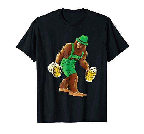 Bigfoot in Lederhosen T-Shirt Funny Oktoberfest Beer Shirt