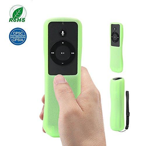 Price comparison product image SIKAI Patent Silicone Case for Amazon Echo Remote Non-Slip-Grip & Secure case Compatible with Amazon Echo/Echo Dot Alexa Voice Remote Prevent Scratch Shockproof Remote Skin (Glow in Dark Green)